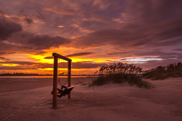 Sunset, Storm, and Swing