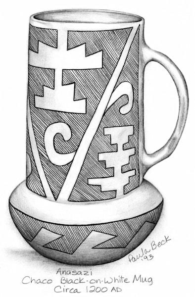 Chaco Black on White Mug