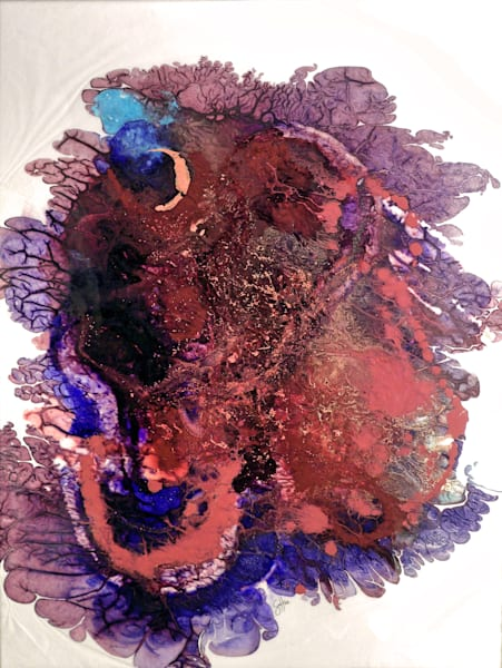 """Space Art - """"Galaxy Slide"""" abstract painting by Sarah Hanson"""