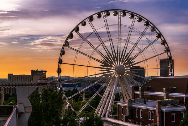 City of Atlanta Ferris Wheel | Susan J: Shop Prints