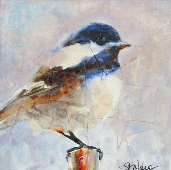Winter Chickadee A Fine Art Bird Painting by Pacific Northwest Artist Sarah B Hansen