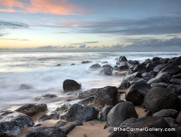 White Mist, Ocean Waves,Pacific Ocean, Kauai