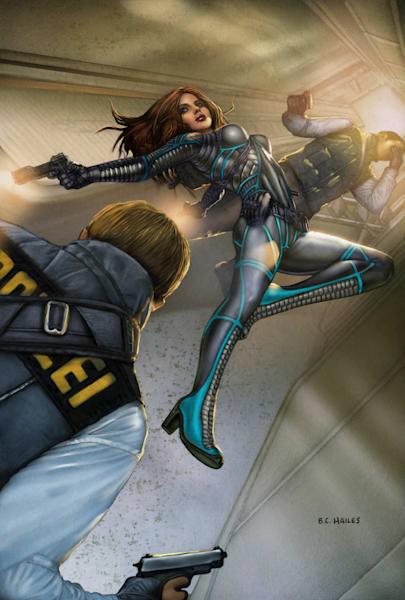 Blink: Jet Fight thriller comic art print