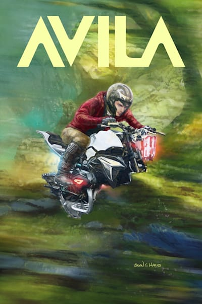 The Chaser's Prey hovercraft sci-fi comic art print