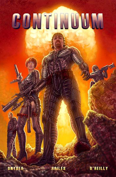 Continuum sci-fi comic art print
