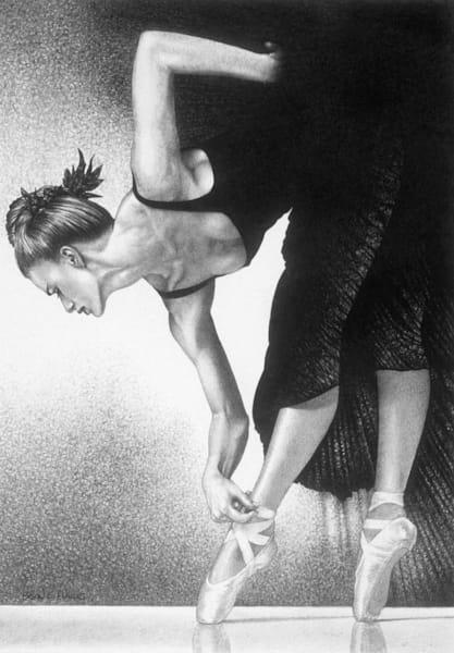ballet dance art print elegance