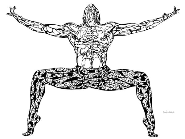 Strength dance art print