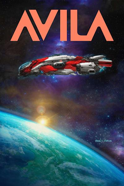 Wakai Centauri spaceship comic art print