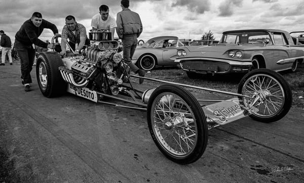 Ernie Hall's Top Gas Dragster 1965 photograph by Richard Stefani