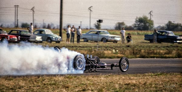 Drag Racing 1964 –Woodburn Dragstrip 2 photograph by Richard Stefani