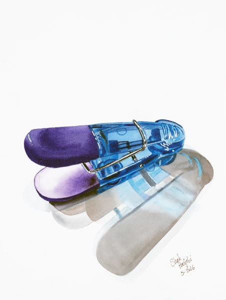 Blue Chip Clip - Watercolor painting - Prints available