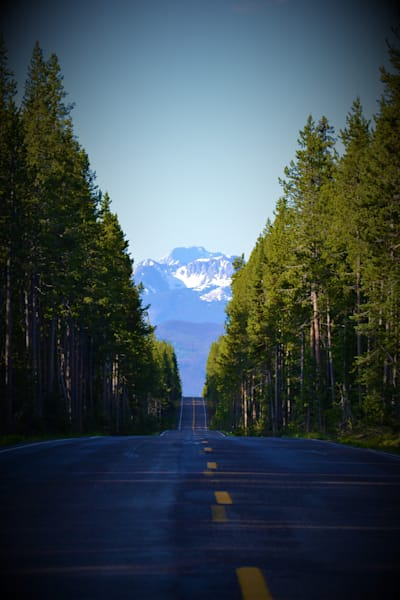 Stunning Photograph of a Road to the Mountains for Sale