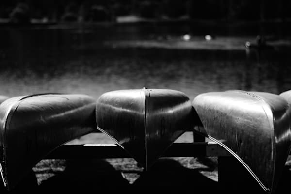 Canoes in black and white - fine art photograph print