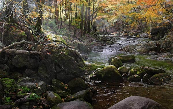 Laurel Creek on Fine Art Paper and Canvas for Sale