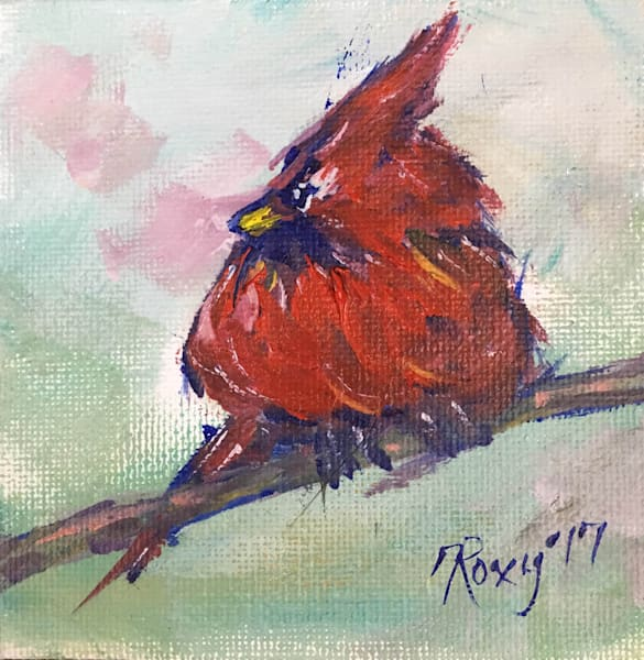 Miniature Cardinal original Oil Painting