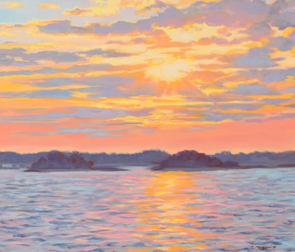 Sunset on the Intercoastal | Contemporary Landscapes | Gordon Meggison IV