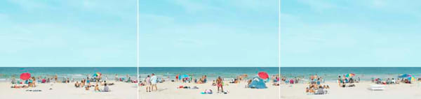 Beach Scene Triptych Photography Art   DE LA Gallery