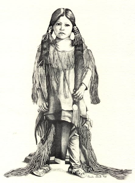 Kiowa Boy Lithograph print by Paula Beck