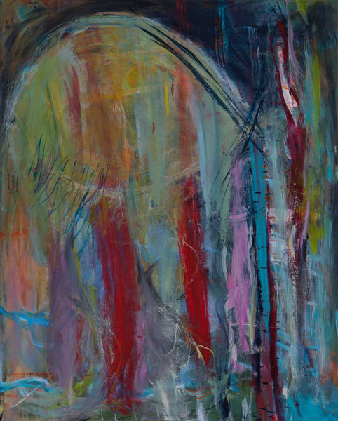 Difficult Conversions Abstract Expressionist Acrylic Original Art Painting For Sale