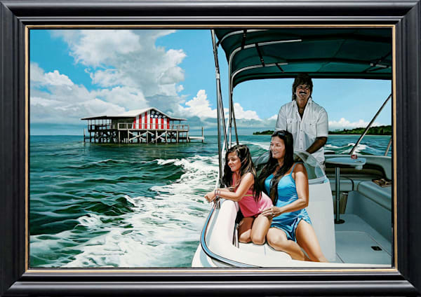 Boating portrait commission painting | Kevin Grass Fine Art
