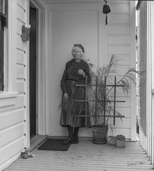 Portrait of Imogen Cunningham at Home by Richard Stefani