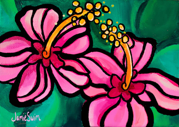 Candy Hibiscus Art | Swim Whimsey