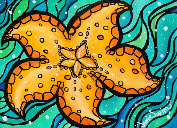 Happy Starfish Art | Swim Whimsey