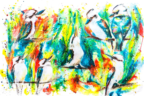 Ink Series -Kookaburras I