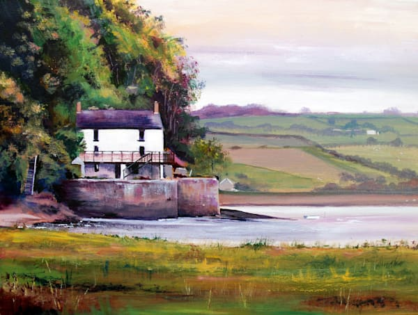 Dylan Thomas Boathouse Art Print by Denise Di Battista