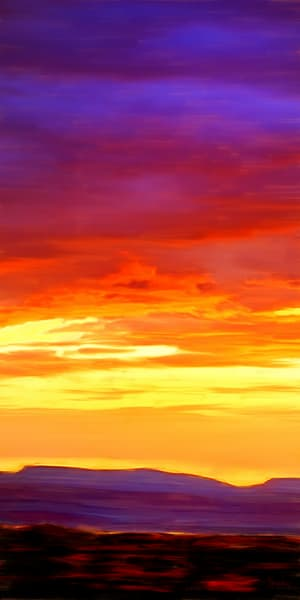 Sunset in Yellow painting by Christina Stefani -print options