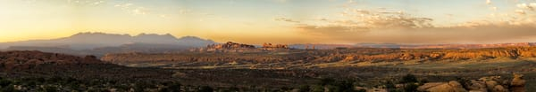 Arches Sunrise Panorama I photograph by Richard Stefani for sale.