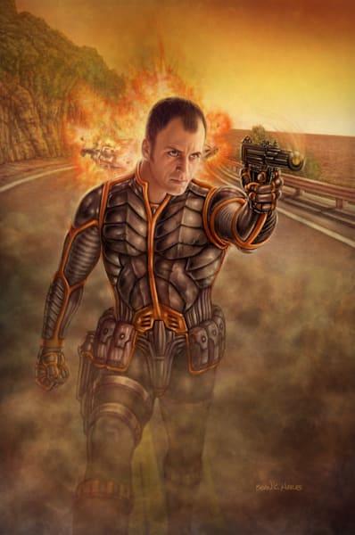Agent Jonathan Sail thriller comic art
