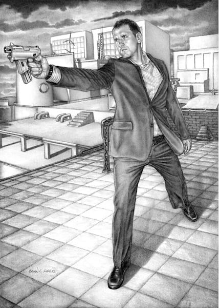 Lancer's Approach thriller comic art print