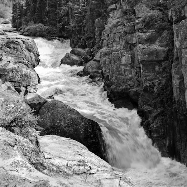 Serenity of water, fine art photograph, Poudre Falls, northern Colorado, by fine art photographer, David Zlotky
