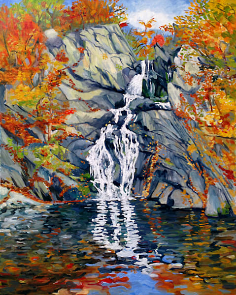 High Falls Painting by Wet Paint NYC Artist Michael Serafino