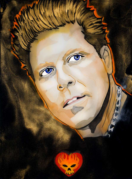 Dexter Holland   The Offspring Art | William K. Stidham - heART Art
