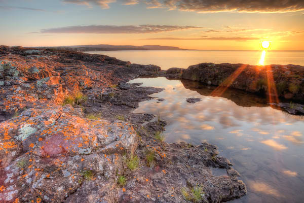 Beautiful fine art photograph prints of Lake Superior sunrise at Two Harbors, Minnesota.