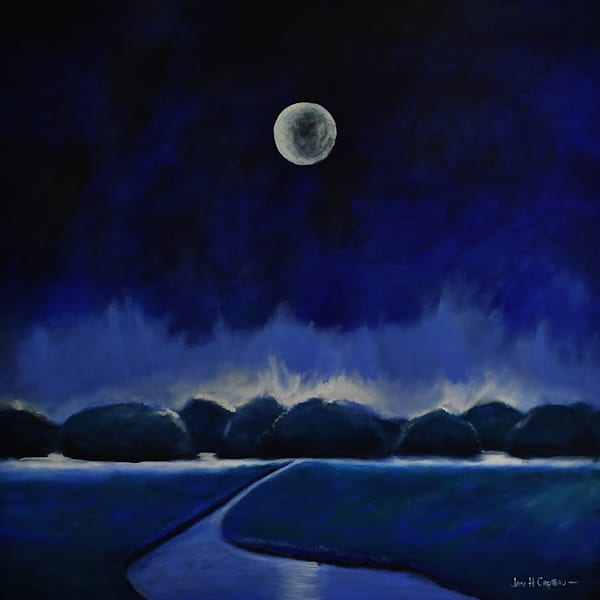 Love Moon is part of the Moonscape series of paintings.