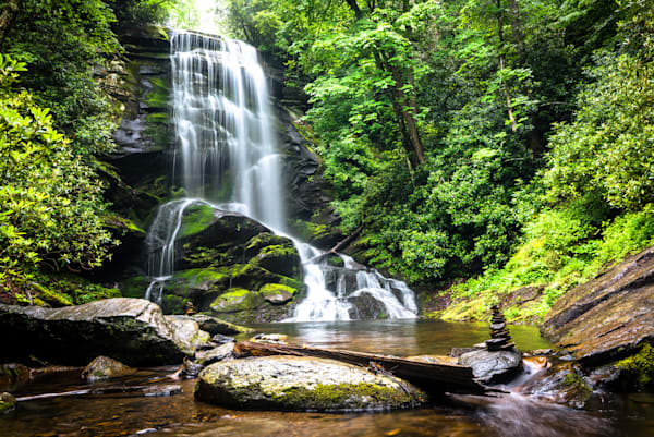 Blue Ridge Mountain Waterfall Photograph for Sale as Fine Art