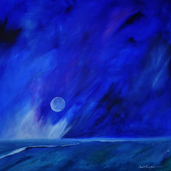 Mystery Moon is part of the moonscape series of paintings for sale | Jan H Croteau Art