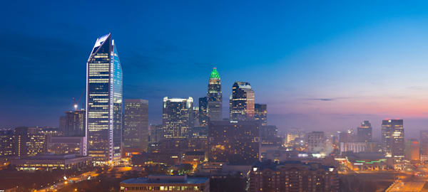 Panoramic Charlotte Skyline Photograph for Sale as Fine Art