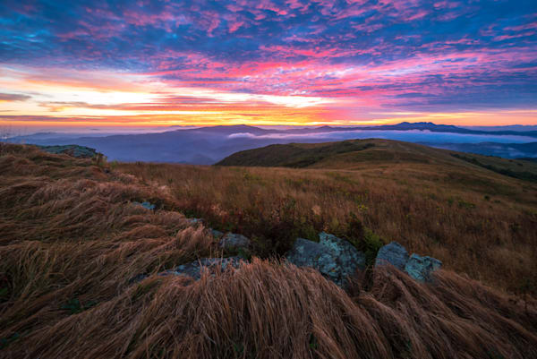 Appalachian Mountain Sunset Photograph for Sale as Fine Art
