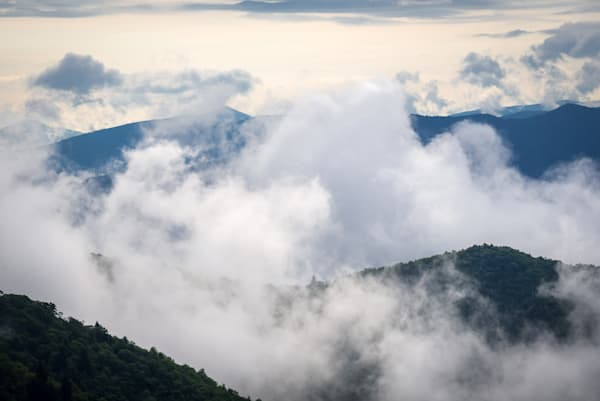 Fog in the Blue Ridge Mountains Photograph for Sale as Fine Art