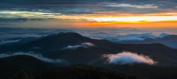Panoramic Blue Ridge Sunrise Photograph for Sale as Fine Art