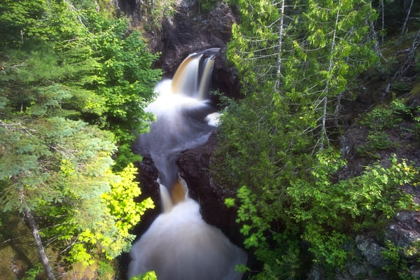 Beautiful fine art photography print of Cascade River Falls, Minnesota