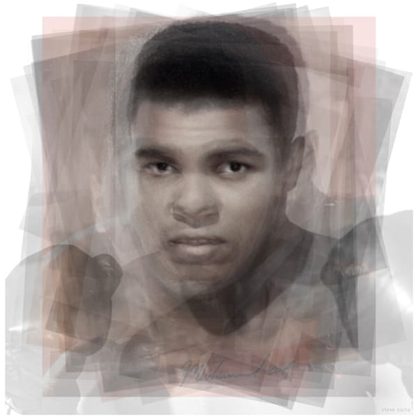 Overlay art – contemporary fine art prints of Muhammad Ali.