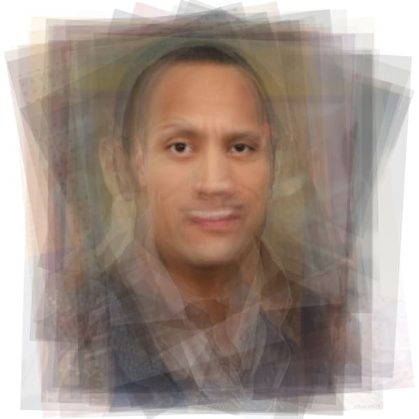 Overlay art – contemporary fine art prints of Dwayne the Rock Johnson.