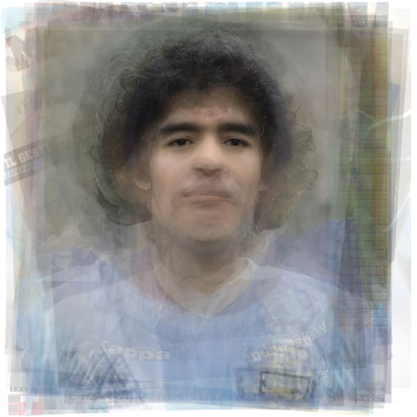 Overlay art – contemporary fine art prints of Diego Maradona