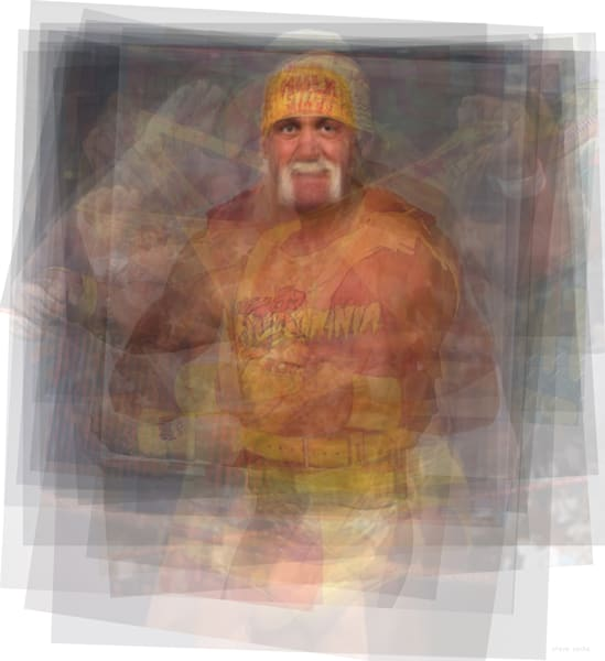 Overlay art – contemporary fine art prints of Hulk Hogan