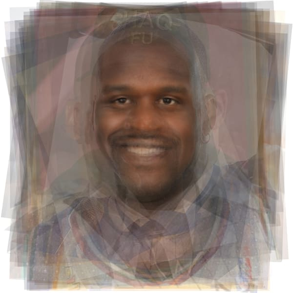 Overlay art – contemporary fine art prints of Shaquille O'neal